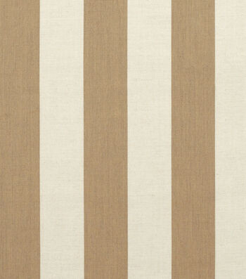 "Sunbrella Outdoor Stripe Fabric 54""-Maxim Heather Beige"