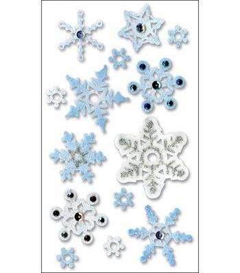 Vellum Layered Stickers-Snowflakes