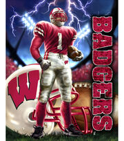 "University of Wisconsin-Madison Badgers Fleece Fabric Panel 60"", , hi-res"