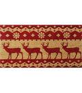 Maker\u0027s Holiday Coir Mat-Red Deer