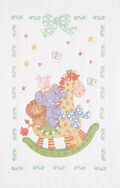 Stamped White Quilt Crib Top 40\u0022X60\u0022-Giraffe&Friends