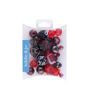 hildie & jo™ Mix Beads-Red & Black, , hi-res