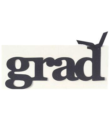 Anna Griffin Grad Glittered Diecut Word Custom Invitation