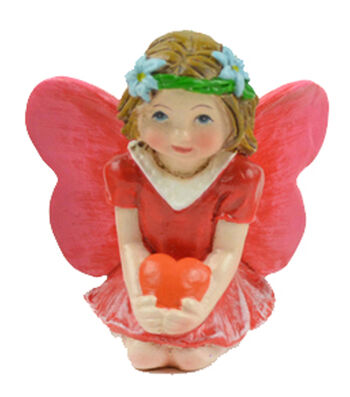 Valentine's Day Littles Polyresin Fairy with Heart