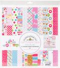 Doodlebug Double-Sided Paper Pack 12\u0022X12\u0022-Cream & Sugar