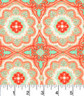 Snuggle Flannel Fabric 42\u0022-Ava Floral Medallion