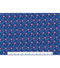 Patriotic Cotton Fabric 43\u0027\u0027-Tossed Stars