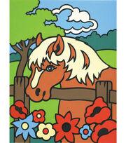 4-1/2''x7'' Mini Paint By Number Kit-Pony, , hi-res