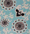 Soft N Comfy Aqua Sky Medallion Fabric
