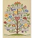 Vintage Family Tree Counted Cross Stitch Kit-9\u0022X12\u0022 14 Count
