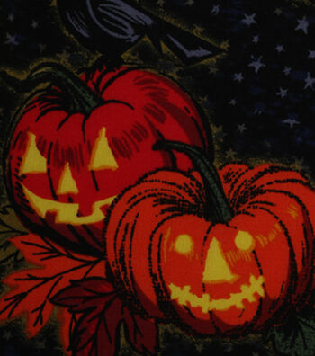 """Halloween Cotton Fabric 43""""-Bewitching Hour"""