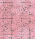 Modern Cotton Fabric 43\u0022-Graph Paper Circles Pink