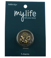 hildie & jo™ My Life 5 Pack Cross Antique Gold Locket Charms, , hi-res
