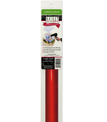 Red Shrink Wrap Roll-9 Ft