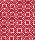 Quilter\u0027s Showcase™ Cotton Fabric 44\u0022-Red Kaleidescope On White