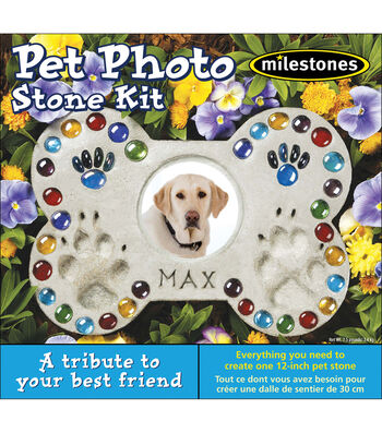 Mosaic Stepping Stone Kit-Pet Photo