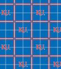 University of Kansas Jayhawks Flannel Fabric 42\u0022-Plaid