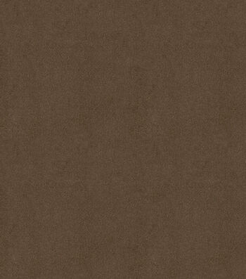 "Signature Series Solid Faux Suede Fabric 58""-Roasted Coffee"