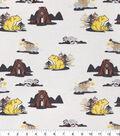 Snuggle Flannel Fabric 42\u0022-Woodland Buddies Cream