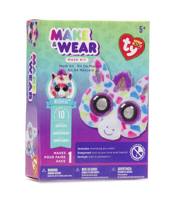Ty Inc. Beanie Boos® Make & Wear Mask Kit-Wishful™ Unicorn