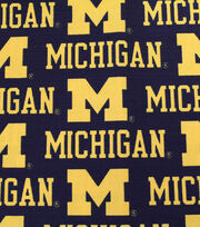 "University of Michigan Wolverines Canvas Fabric 58""-Logo, , hi-res"
