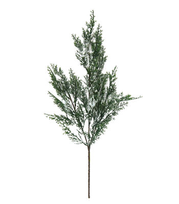 Blooming Holiday Christmas 28'' Frosted Cedar Evergreen Spray
