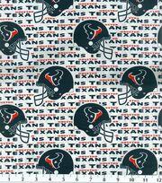 Houston Texans Cotton Fabric 58''-White, , hi-res