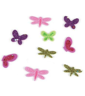 Foam Sticker Confetti-Dragonfly N Butterfly 95/Pkg