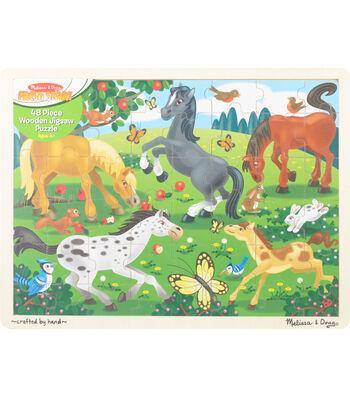 """Melissa & Doug Jigsaw Puzzle 48pcs 11.75""""X15.75""""-Frolicking Horses"""