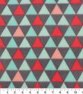 Blizzard Fleece Fabric 59\u0022-Dreamy Triangle