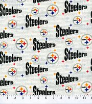 "Pittsburgh Steelers Cotton Fabric 58""-White, , hi-res"