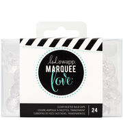 Heidi Swapp Marquee Love Etched Bulb Caps 24/Pkg-Clear, , hi-res