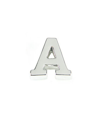 """Blue Moon Beads """"Impressions"""" Bead Letter Silver"""