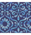 Dancing Damask/blueberry Swatch