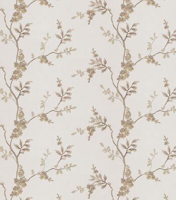 Eaton Square Print Fabric-Rosehips/Linen