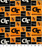 "Georgia Tech Yellow Jackets Cotton Fabric 43""-Block, , hi-res"