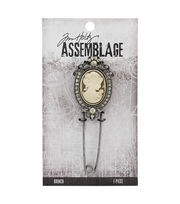 Tim Holtz® Assemblage 3.25''x1'' Cameo Broach, , hi-res