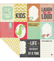 Kaisercraft Hello Sunshine Double-Sided Cardstock Paper Tee-Hee, , hi-res