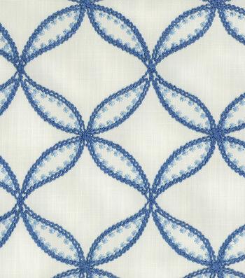 "Williamsburg Upholstery Fabric 52""-Tanjib Emb/Ink"