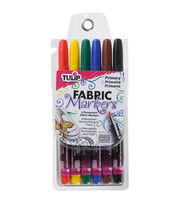 Tulip® 6 pk Primary Fabric Markers®, , hi-res