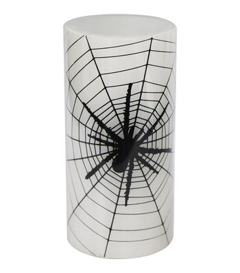 Maker's Halloween 3''x6'' Silk-screened LED Candle-Spider