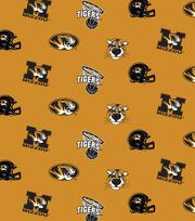 "University of Missouri Tigers Cotton Fabric 44""-Black All Over, , hi-res"