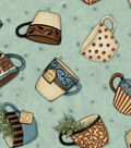 Susan Winget Cotton Fabric 44\u0022-Tea for Two
