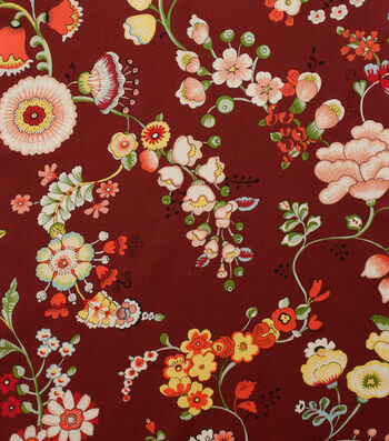 "Alexander Henry Cotton Fabric 44""-Speranza Brick Red"