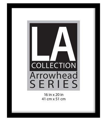 LA Collection Arrowhead Series Plastic Flat Top Frame 16''x20''-Black