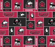 "Northern Illinois Huskies Fleece Fabric 58""-New Block, , hi-res"