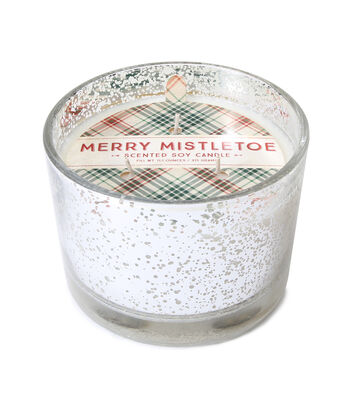 Maker's Holiday Christmas 3-wick Scented Mercury Candle-Merry Mistletoe