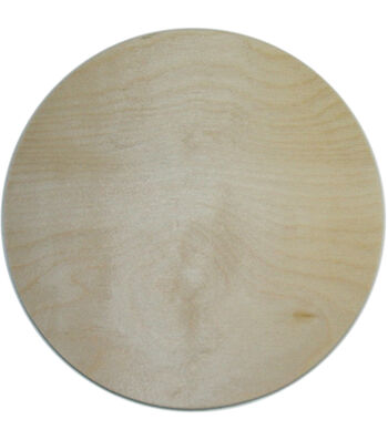 Unfinished Wood Baltic Birch Plaque 1/Pkg-Circle 10""