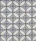 Anti-Pill Fleece Fabric 57\u0022-Gray On Gray Geo Circles