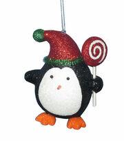 Maker's Holiday Christmas Whimsy Workshop Glitter Penguin Ornament, , hi-res
